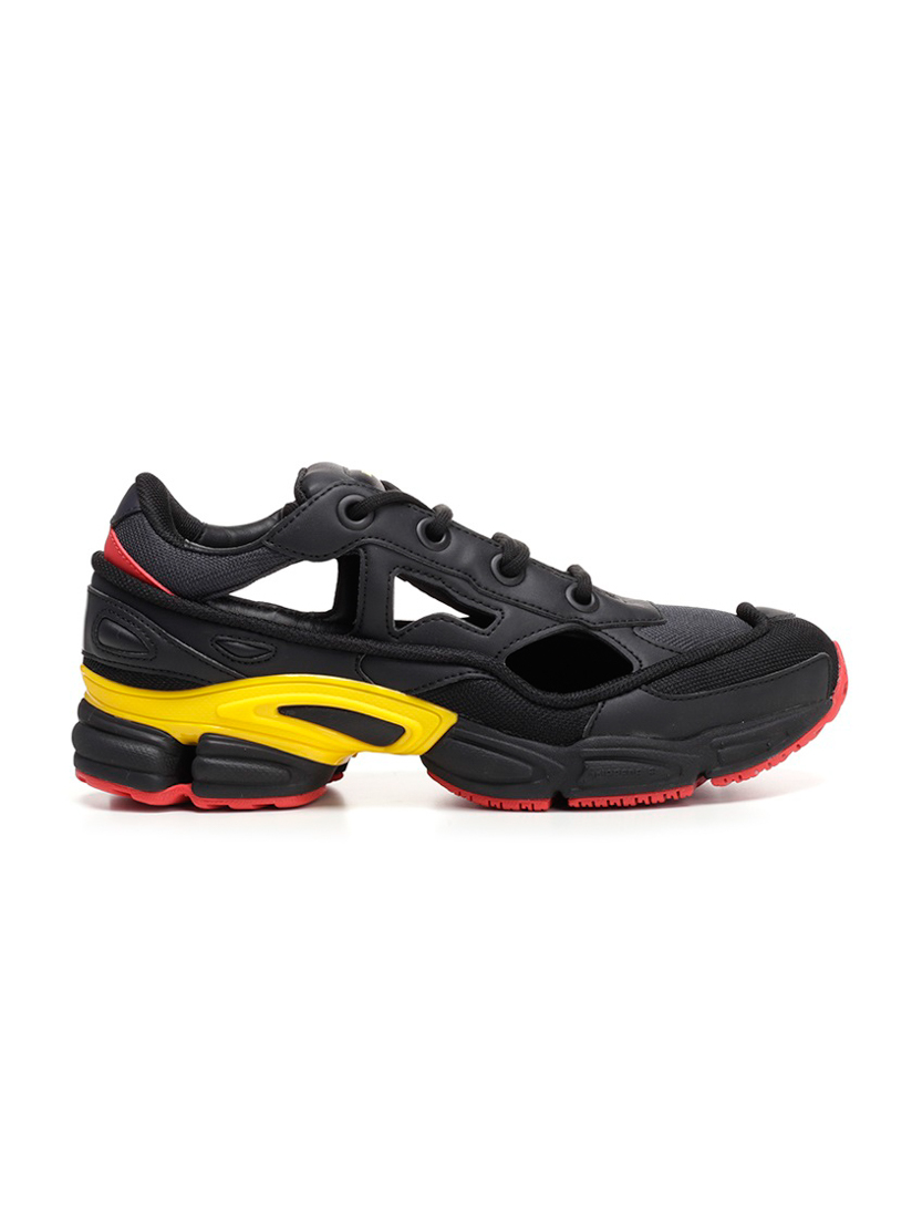 Adidas X Raf Simons Replicant Ozweego Belgium Panelled Trainers in Black