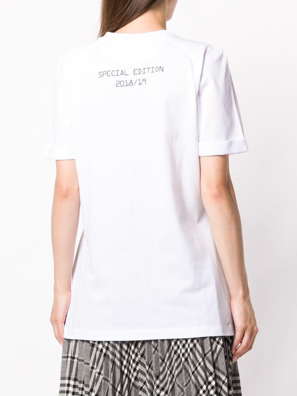 Fendi Women'S T-Shirt Short Sleeve Crew Neck Round In White
