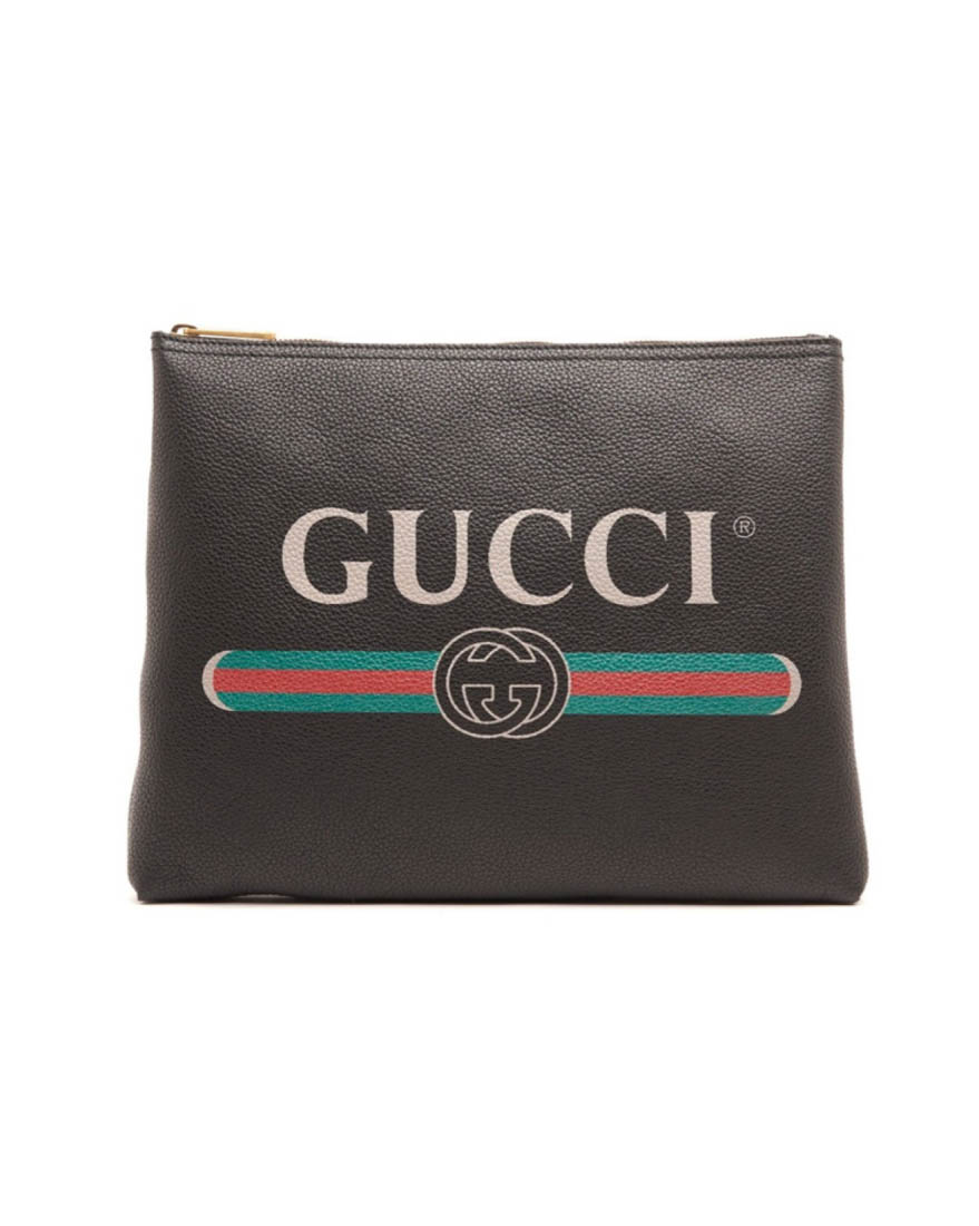 Gucci Leathers LOGO印花手拿包