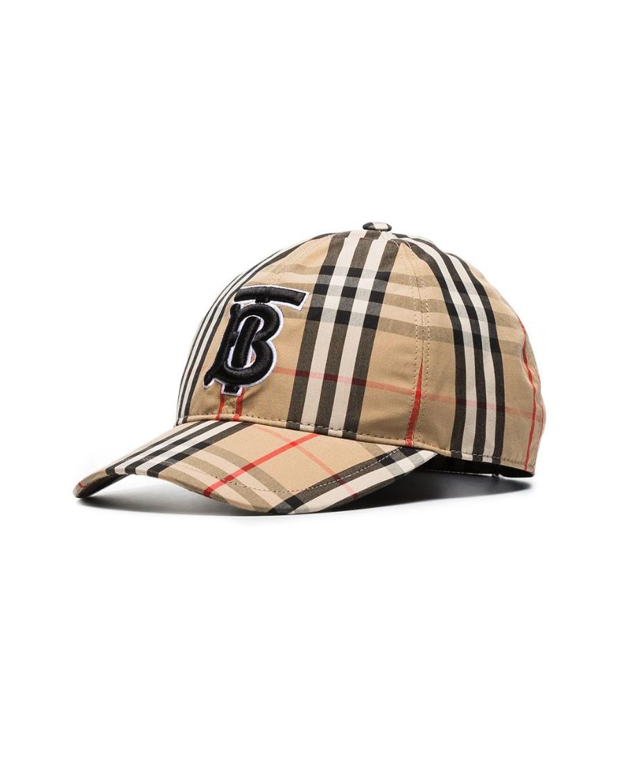 Burberry Icon Stripe Logo-Embroidered Cotton Baseball Cap In Neutrals