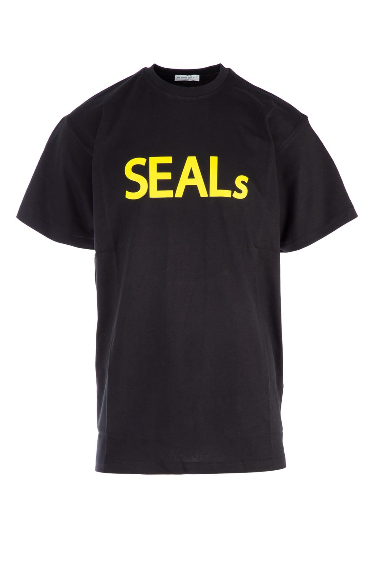 Ih Nom Uh Nit Seals Cotton T-Shirt In Nero