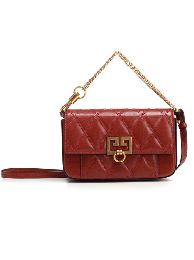 2034db9f4b2 Givenchy Pocket Mini Pouch Convertible Clutch/Belt Bag - Golden Hardware In  Terracotta