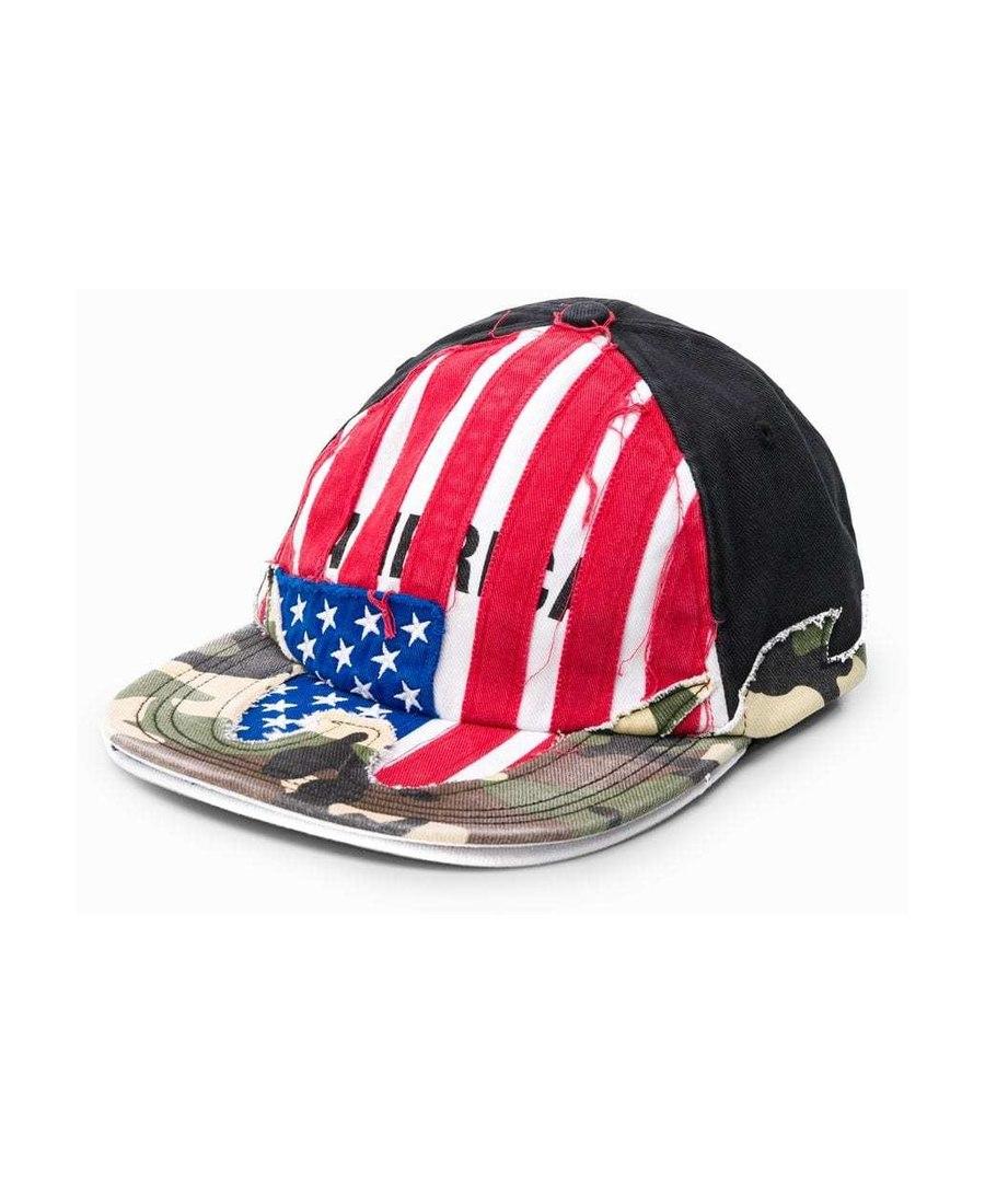 Vetements Usa拼接棒球帽子 In Black
