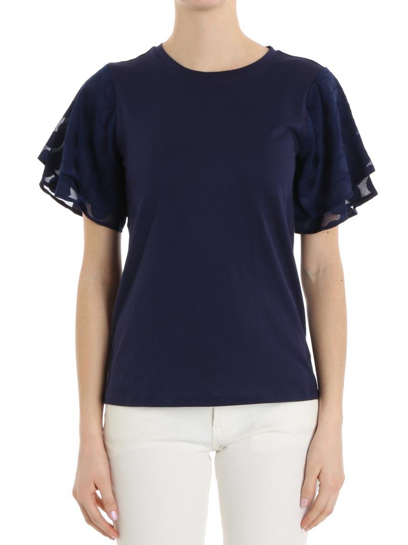 c0bda5d9198 Michael Kors Dames T-Shirt In Navy   ModeSens