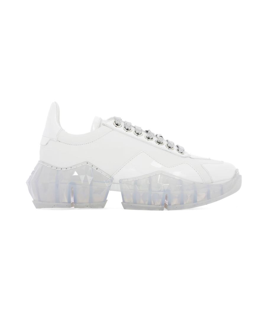 Jimmy Choo 宋茜同款 Diamond/F 休闲运动鞋 In White