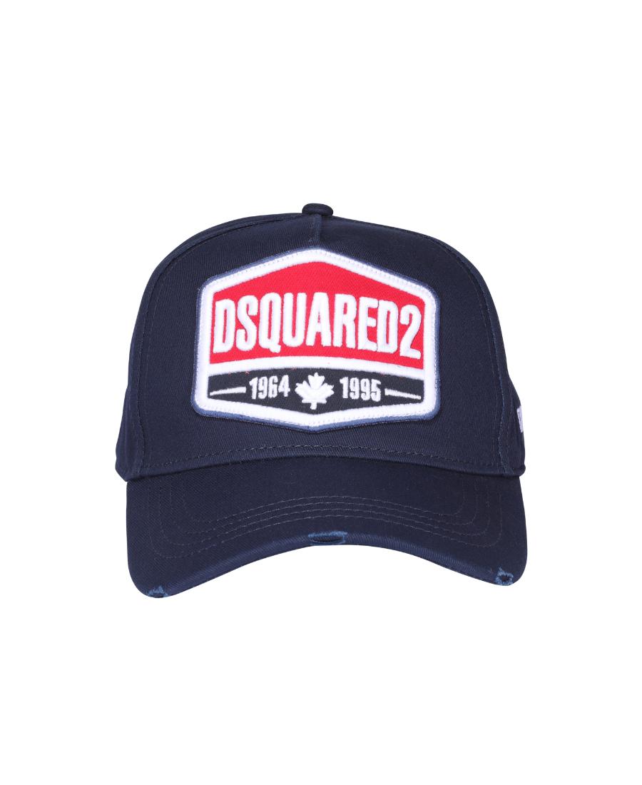Dsquared2 深蓝色刺绣徽标棒球帽子 In Blue