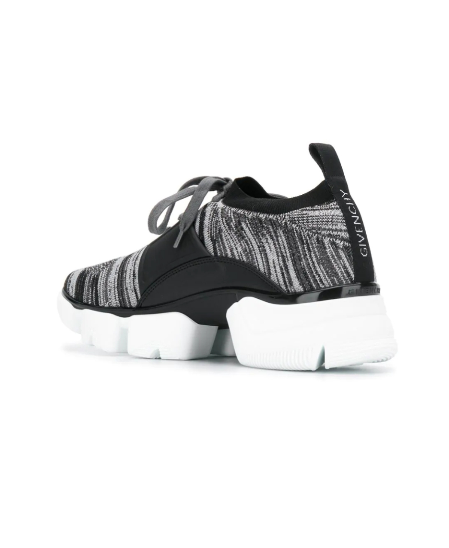 Givenchy Jaw Leather And Nylon Sneakers In Grey