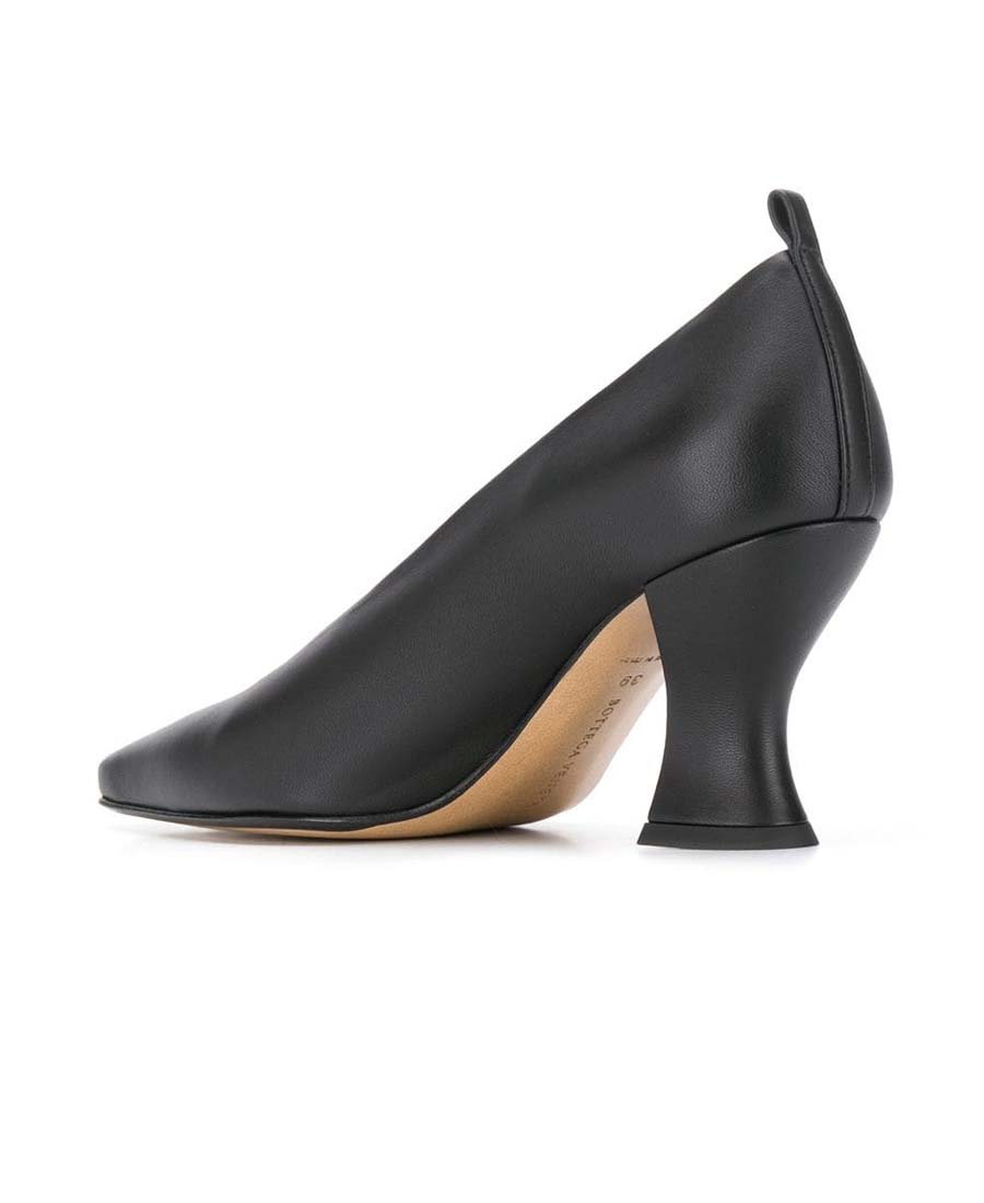 4bfbfd3eb3579 Almond Leather Pumps in 1000 Black