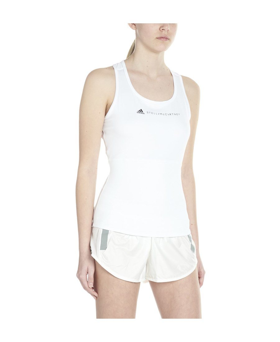 2f84b7ba283 Adidas By Stella Mccartney Parley For The Oceans Essentials Mesh-Paneled  Climalite Tank In White