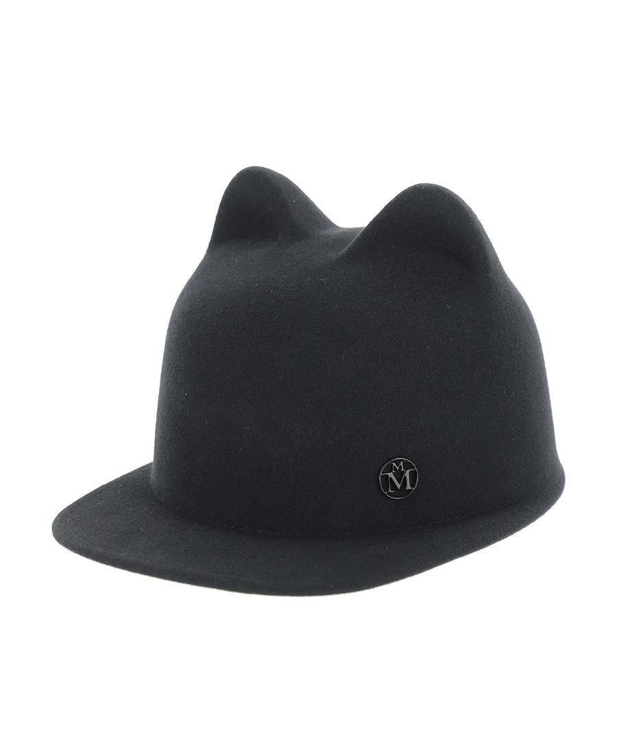 Maison Michel 灰黑色jamie帽子 In Black