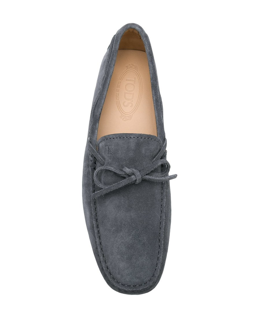 bb7399ae071 Tod S Men S Suede Loafers Moccasins Laccetto New Gommini 122 In Grey ...