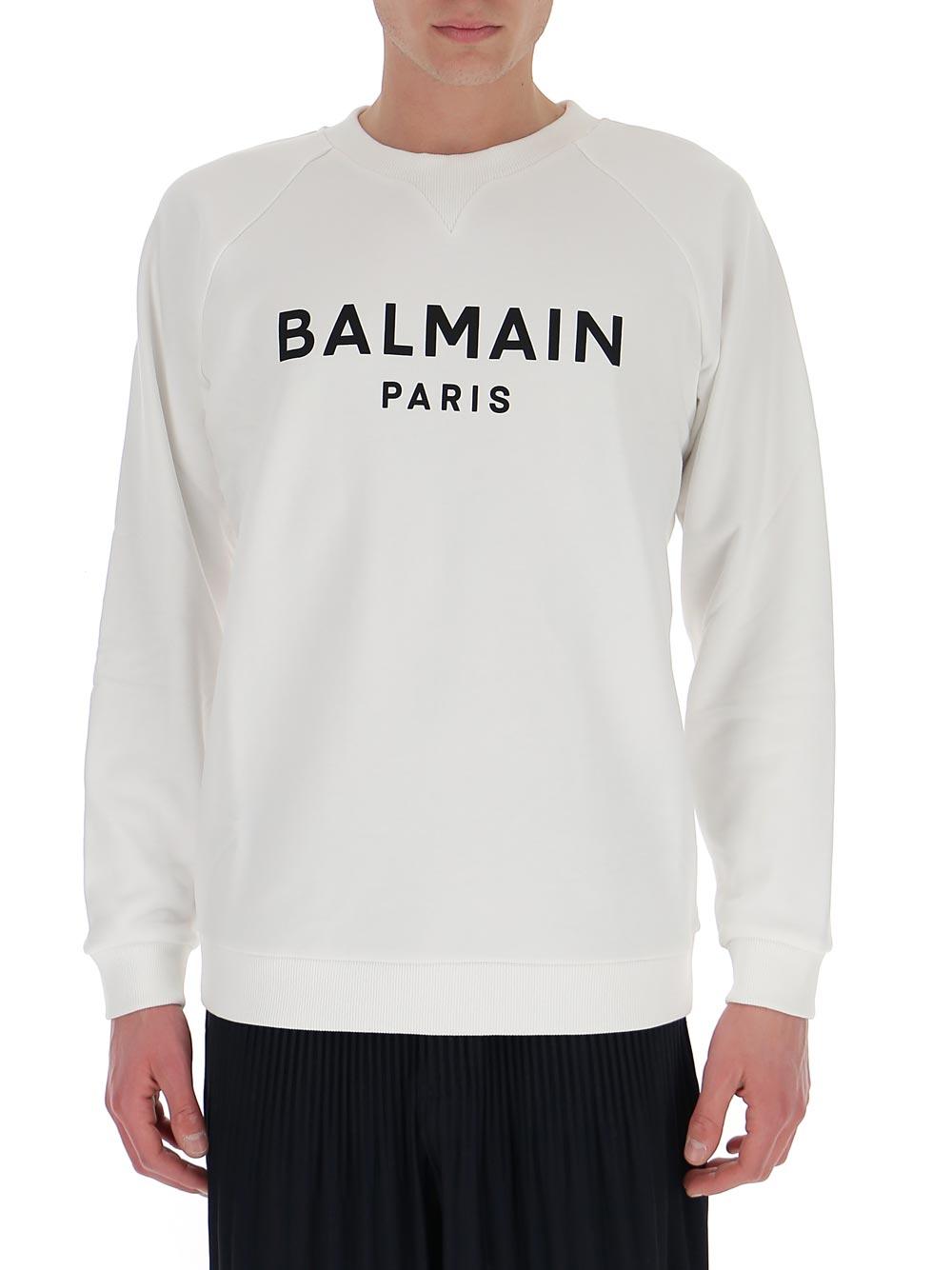 Balmain 徽标卫衣 In White