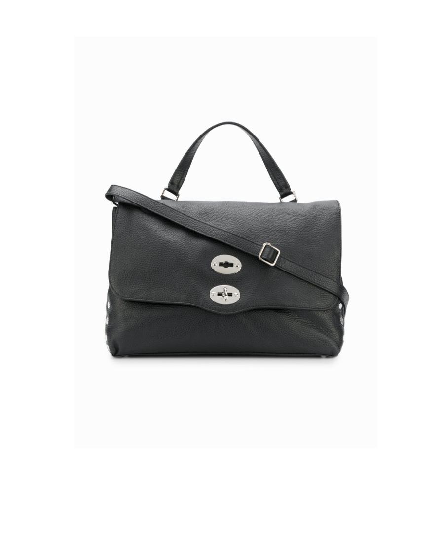 Zanellato 黑色卵石纹理手提包