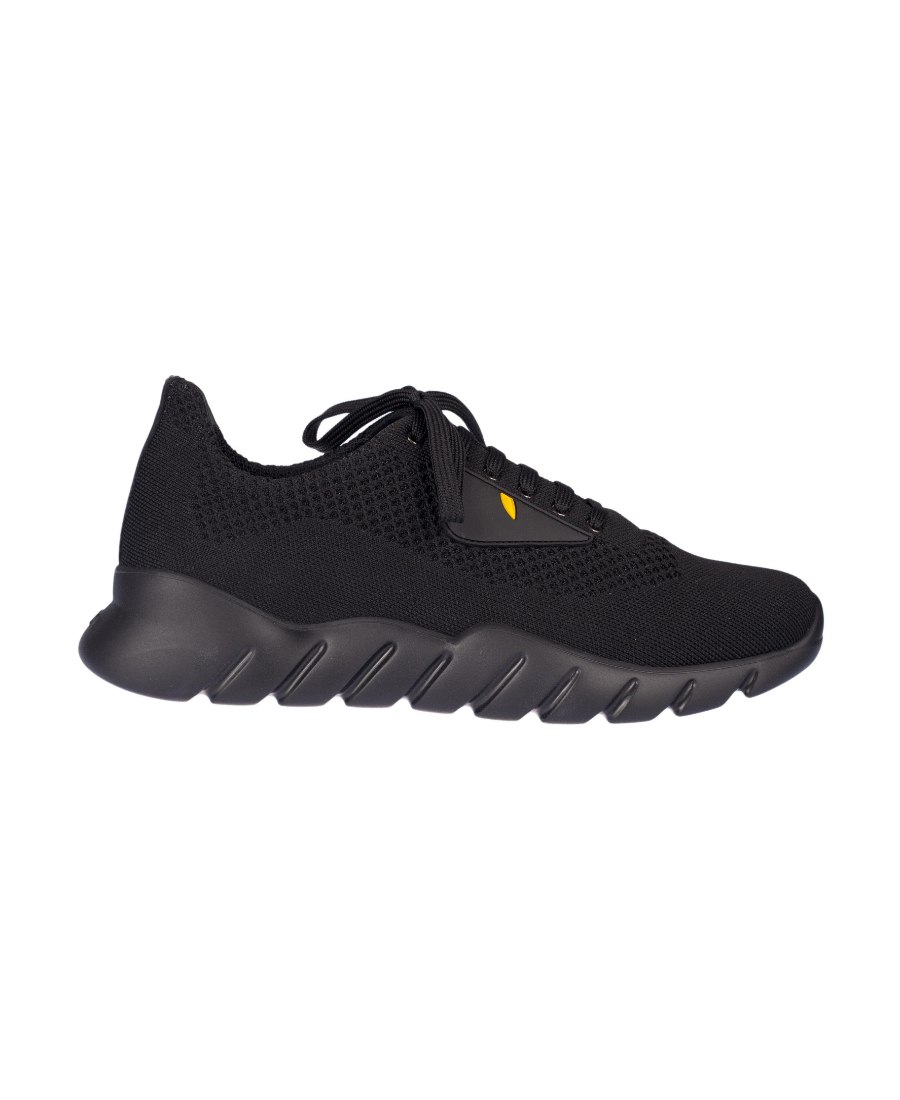 f29784d0 Black Knit 'Bag Bugs' Chunky Sneakers
