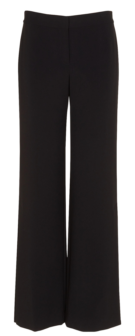 Theory High Slit Admiral Crepe Pants In Black