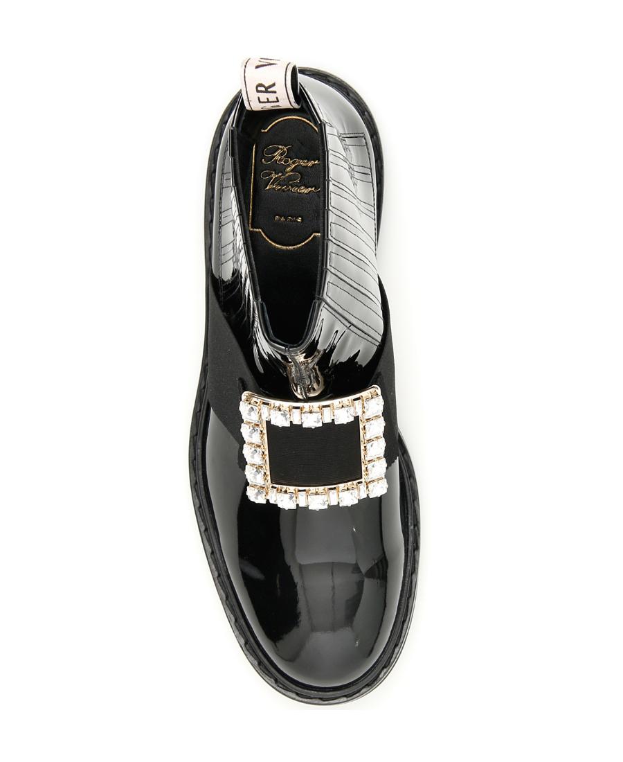 84894bc3785 Crystal-Embellished Chelsea Viv' Rangers Boots in Black
