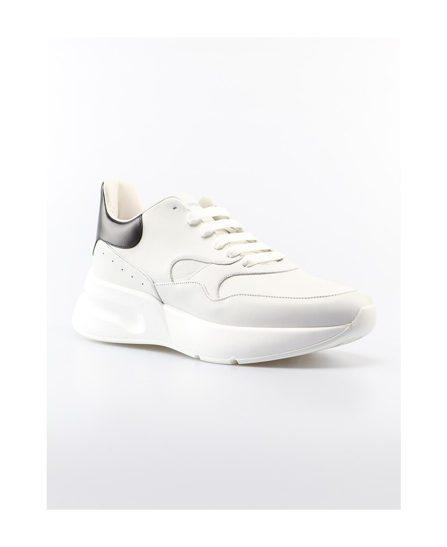 Alexander Mcqueen White Leather Oversize Sole Runner Sneakers