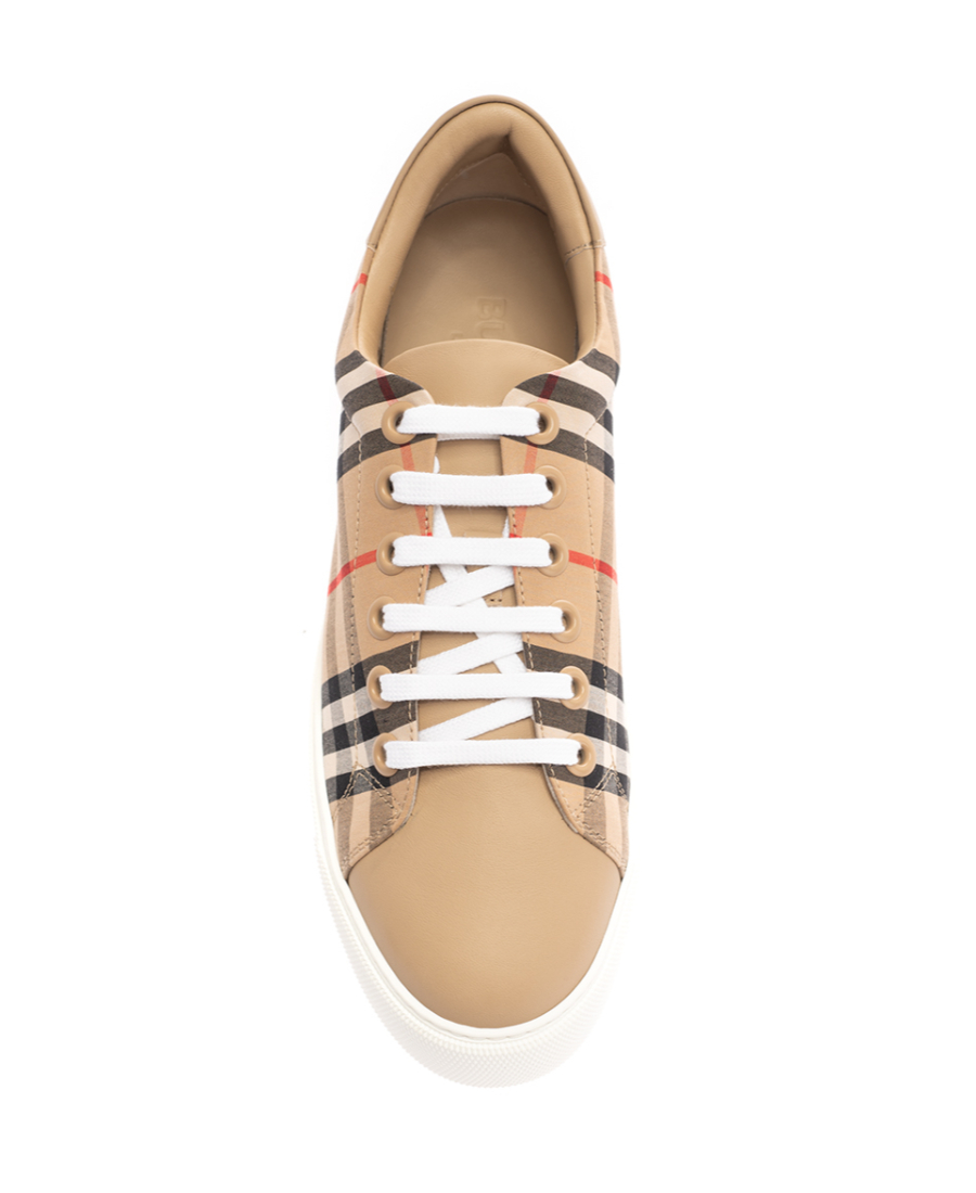 Burberry Women's Albridge Vintage Check Low-Top Sneakers In Neutrals