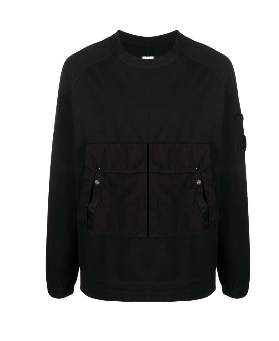 C.p. Company 黑色圆领卫衣