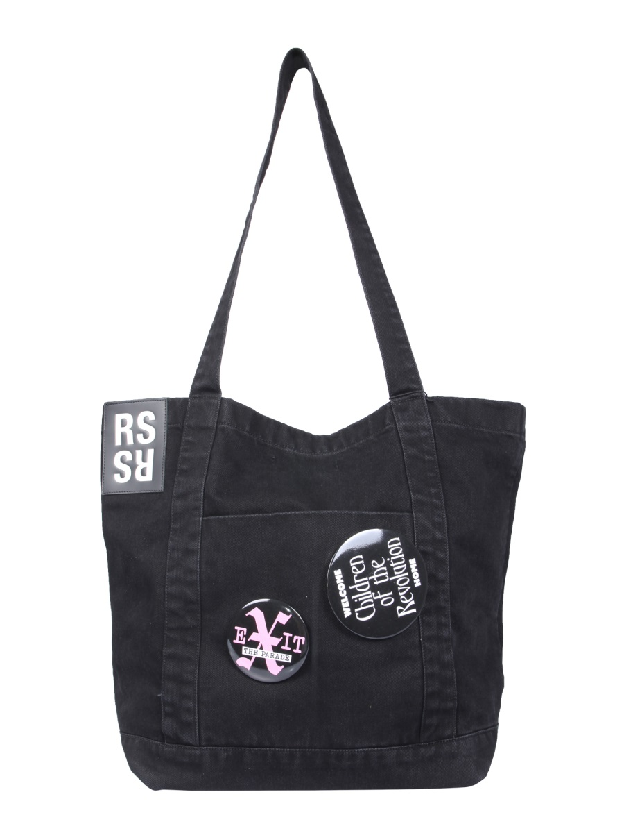 Raf Simons Denim Tote Bag