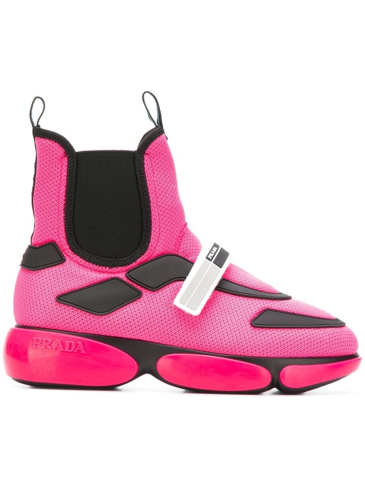 9936e1ab Cloudbust High-Top Mesh Trainers in Pink